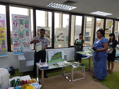 Market display presented by Bangladesh team  (photo taken by Mirzohaydar Isoev)