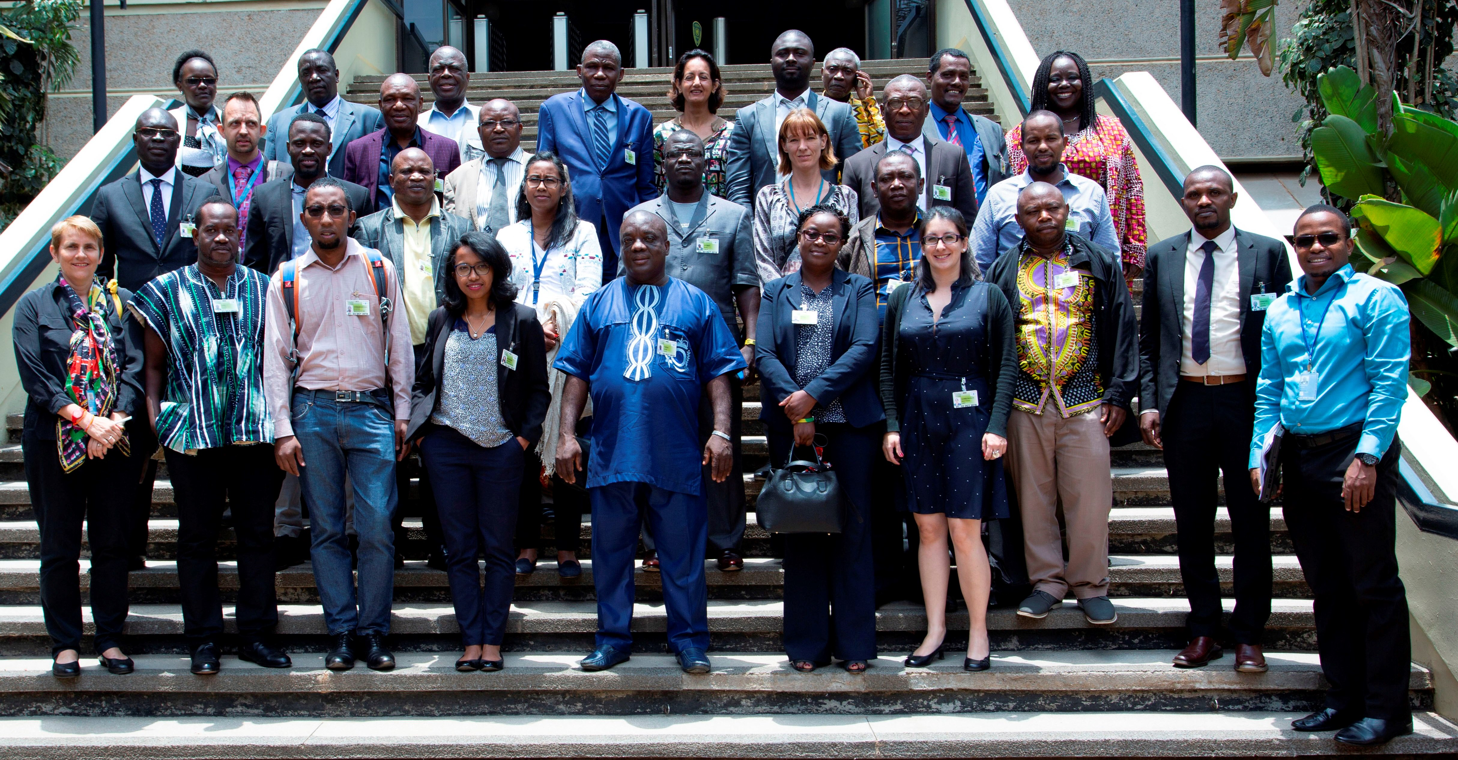 Participants of the 2018 Africa Knowledge Exchange drawn from 11 African countries including REDD+ experts from UN Environment, UNDP and FAO