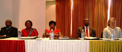 the high table at the UNREDD high level meeting in Zambia