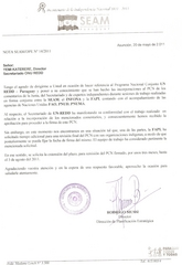 Letter from Paraguay requesting extension to sign NPD