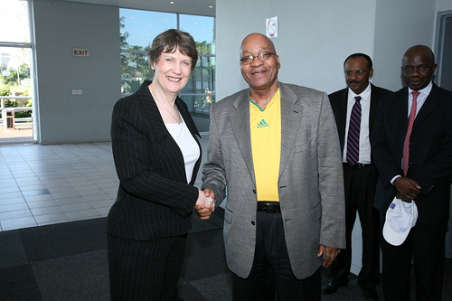 UNDP Administrator Helen Clark meets with South Africa President Jacob Zuma