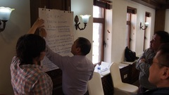 Mongolia workshop participants prioritising SIS objectives